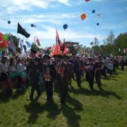 Торжественный митинг, посвященный Дню Победы, прошел в Гродно на мемориальном комплексе «Курган Славы».