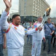 В Гродно прошла эстафета «Пламя мира»